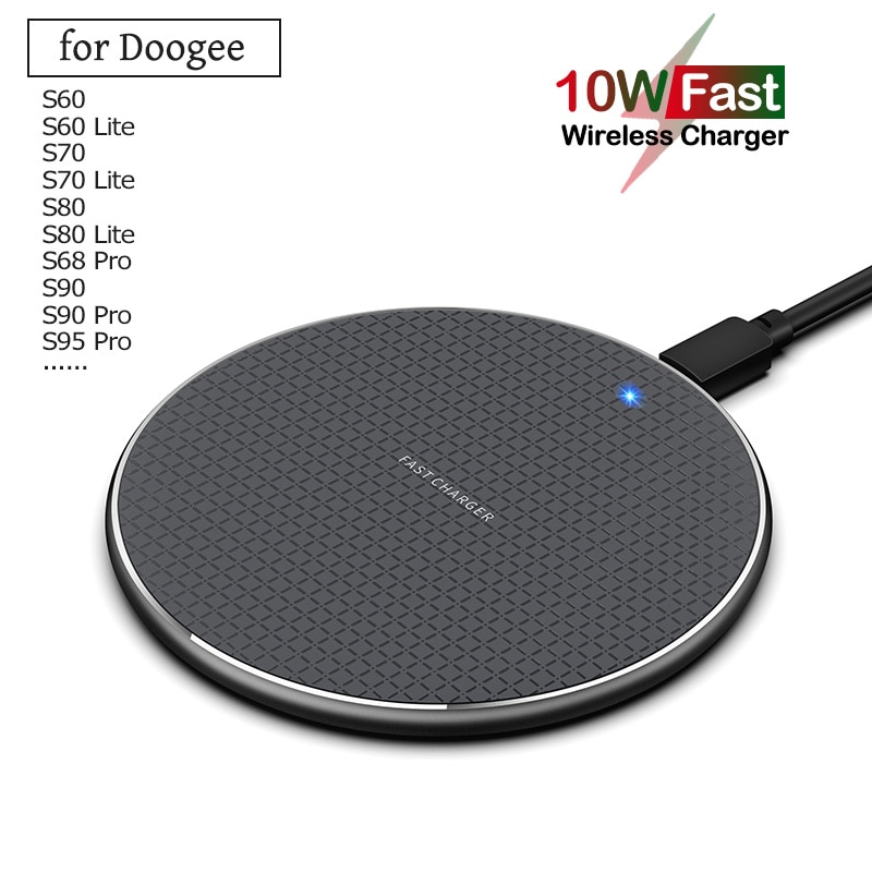 Qi 10W Fast Wireless Charging for Doogee S90C S90 S95 S68 S88 Pro Plus 5W Phone Wireless Charger for