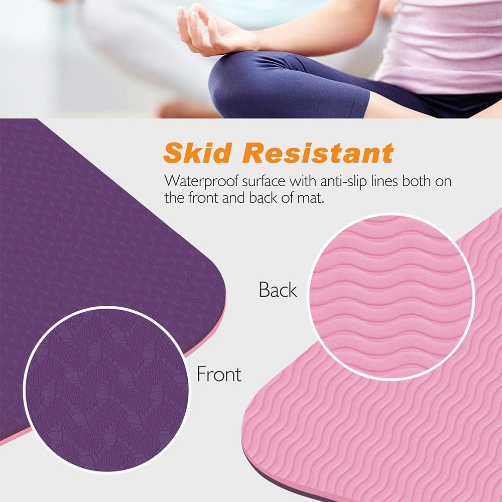 Yoga Mat Line Non-Slip Exercise TPE Balance Board Fitness Workoutt with Carrying Bag for Pilates Gymnastics Slimming