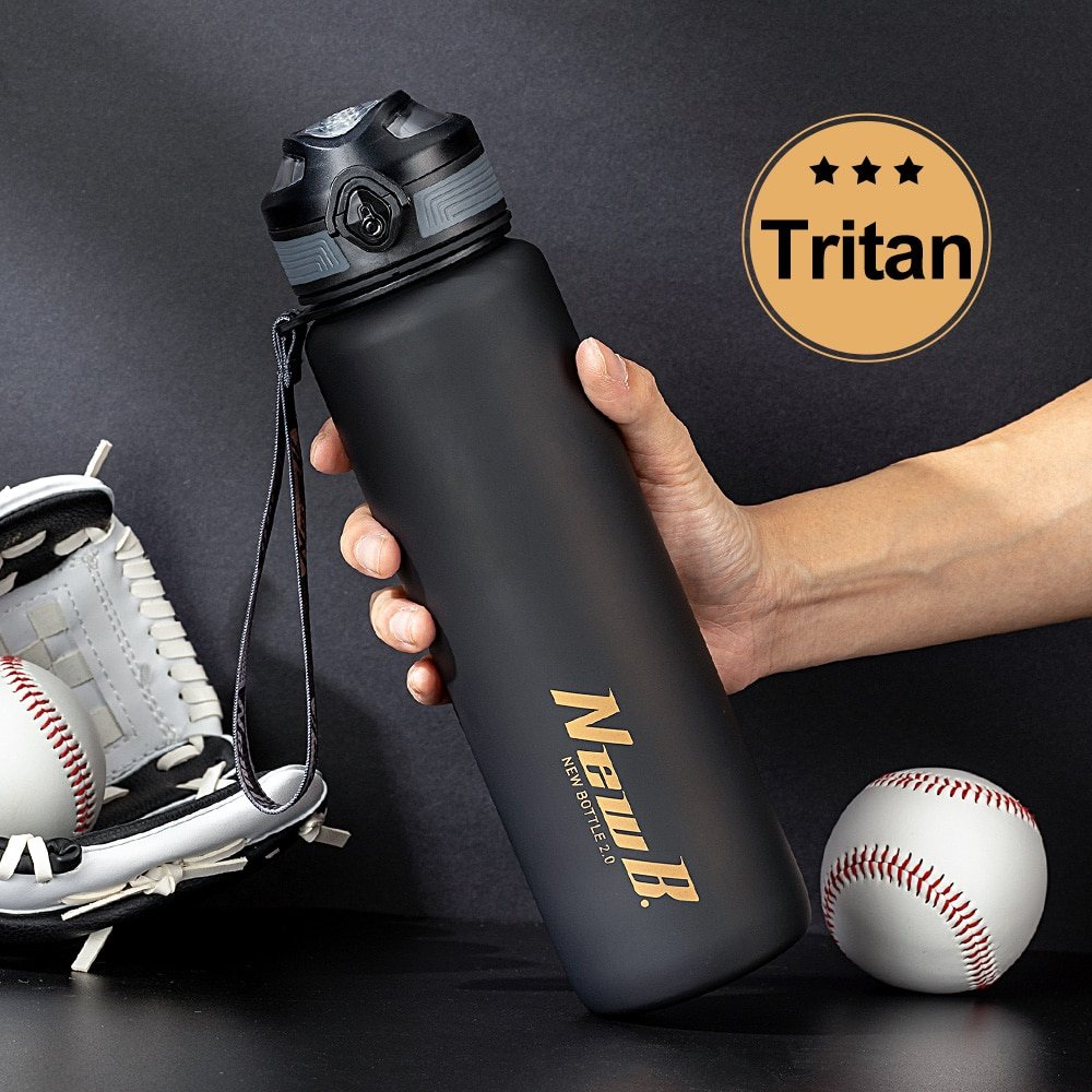 Tritan sports water bottle for fitness cycling outdoor plastic water bottles for 1000ml 650ml large