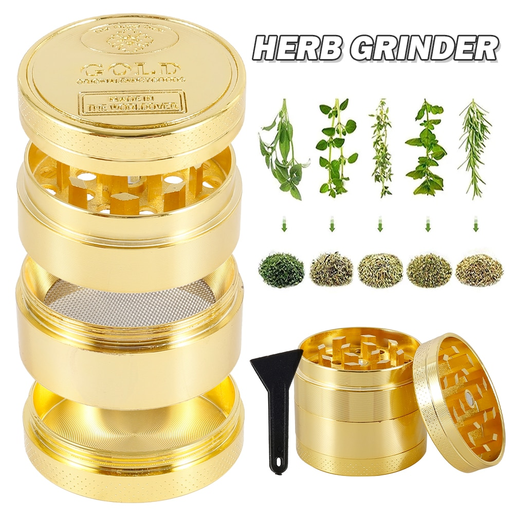 4-Layer Grinder Weed Crusher Smoking Accessories Spice Grass Tobacco Herb Grinder Pepper Metal Mill Machine DIY Cigarette Tools