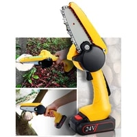 24v chain saw electric pruning saw rechargeable small electric saw household one handed garden logging mini electric chain saw