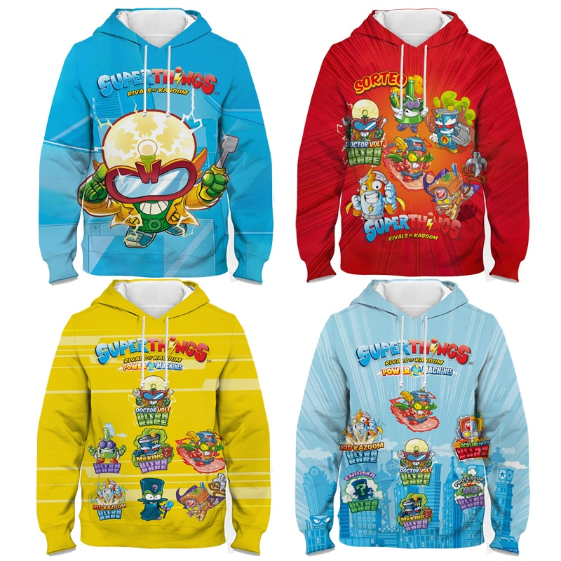 Children Super Zings Hoodie Boys Girls Cartoon 3D Printed Pullovers Kids Superzings Sweatshirt Harajuku Streetwear Spring Winter