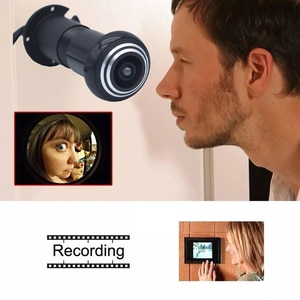1.66mm Lens Door Eye Hole Wired IP Camera 1080P 170 Degree Wide Angle FishEye CCTV Security Mini Camera Audio TF Card Slot Onvif