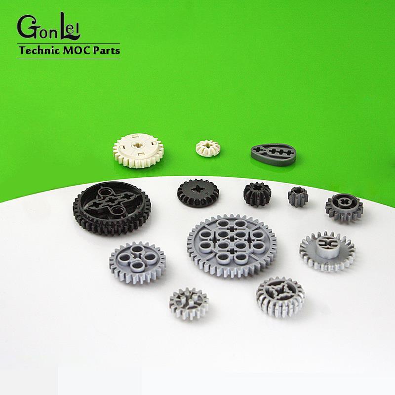 5-50 unids/lote piezas de engranaje técnico bloques de construcción DIY juguetes MOC ladrillo Compatible con 32269/32270/32498/62821/76244/87407/94925 piezas