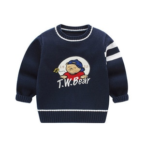 New children's Pullover Sweater boys and girls cotton knitted jacket