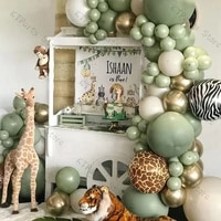 117pcs dusty green balloon garland arch kit balloon metallic gold globos jungle theme baby shower kids birthday party decor