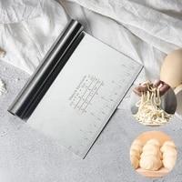 stainless steel graduated dough cutter manual cutter scraper flour cutting baking tool cooking gadgets kitchen accessories