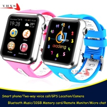 Smart GPS Tracer Location Bluetooth Watch with Camera Pedometer Remote Monitor Touch Screen Phone Wr