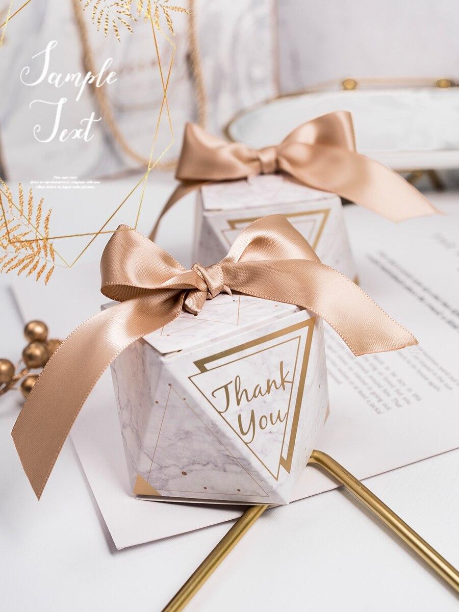 20 unids/lote caja de regalo de boda con personalidad creativa gracias, caja de regalo, papel Kraft creativo, bolsa de regalo DIY, caja de chocolate