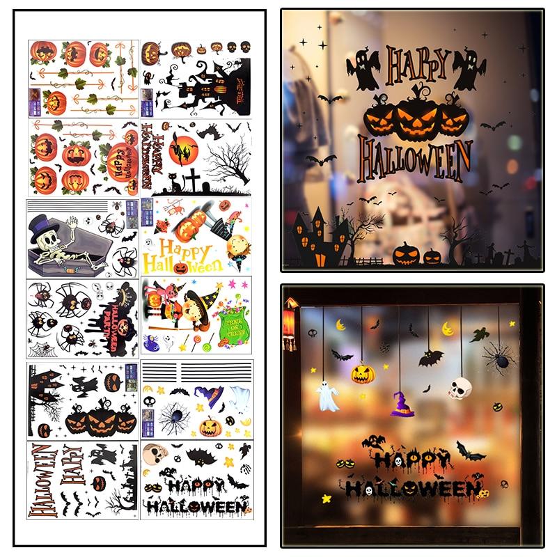 1 Набор, ПВХ наклейки на окна Хэллоуина