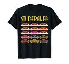 STUDEBAKER Classic Car Collector Vintage Retro Art Graphic T-Shirt(1)