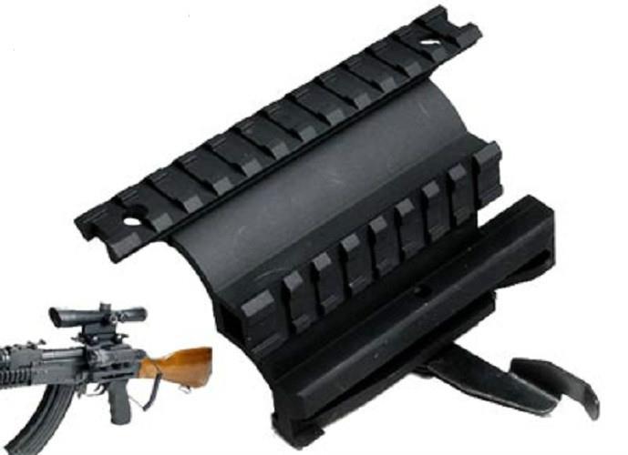 Magorui militar táctico fuerza AK Lado de montaje de bloqueo de montaje alcance para AK 74U negro
