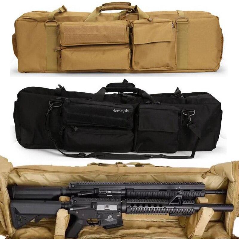 Case de Transporte para Serra Arma Tático Mochila Exército Duplo Rifle Bolsas Airsoft Militar Dupla Carabina M249 M4a1 M16 Ar15