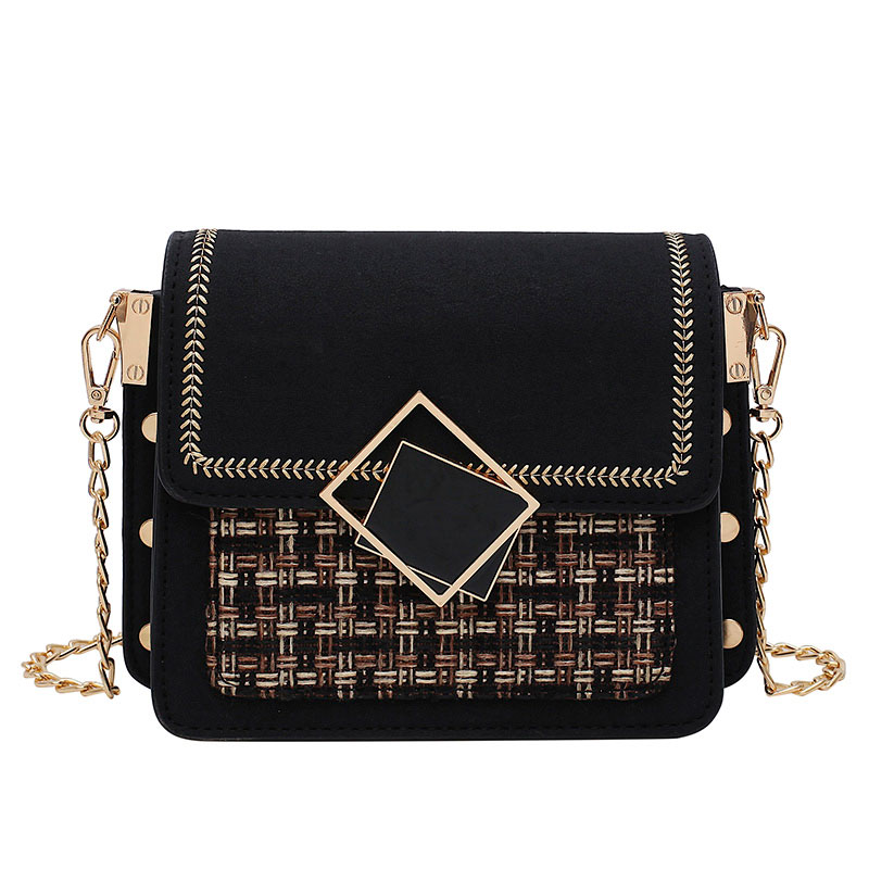 New Scrub Leather Weave Crossbody Bags For Women Fall Chain Shoulder Messenger Bag Female Chain Luxury Handbags and Purses