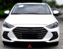 Revêtement dhabillage de antibrouillard Hyundai ELANTRA 2016 2017 HXH   Autocollant avant en carbone noir pour style de voiture