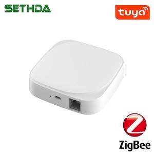 Tuya Zigbee Smart Home Gateway Hub/PIR/Door&Window/T&H Sensors ZigBee3.0 Compatible with Amazon Alexa / Google Assistant