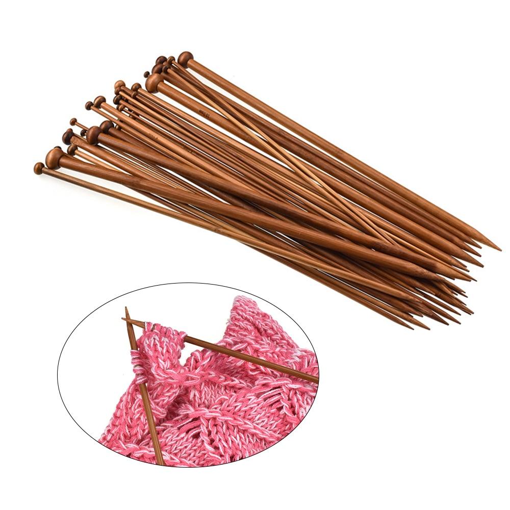 36 pçs/set Fio Camisola de Bambu Agulhas De Tricô Para Iniciantes & Home Profissional Alça de Crochê DIY Ferramentas de Tricô Weave Artesanato