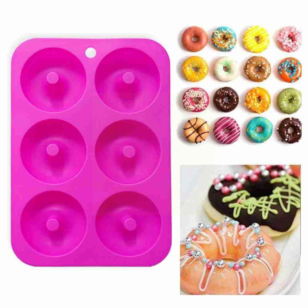 Форма для пончиков Diy пончики силиконовая форма для выпечки инструменты для выпечки десерты украшение ручной работы многоразовая форма для...