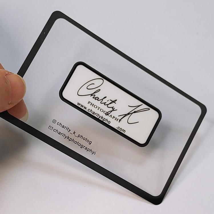 Customized high quality PVC transparent VIP transparent business card printing
