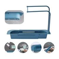 telescopic sink shelf soap sponge drain rack storage basket bag faucet holder adjustable bathroom holder sink kitchen accessorie