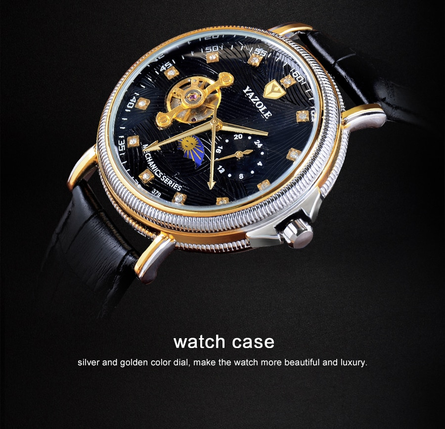 moda negócios à prova dwaterproof água relógios mecânicos relogio masculino