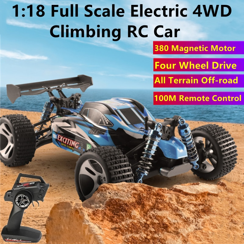 4WD High-speed Racing Drifting RC Car 30KM/H 380 Strong Magnetic Motor 100M Independent Suspension Shock Absorber RC Buggy Toys