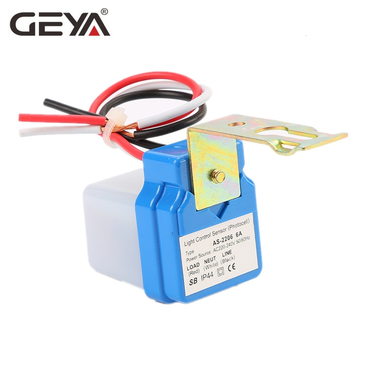 Free Shipping GEYA Automatic Auto On Off Photocell Street Light AC 110V 220V 50-60Hz Sensor Switch 3A 6A 10A