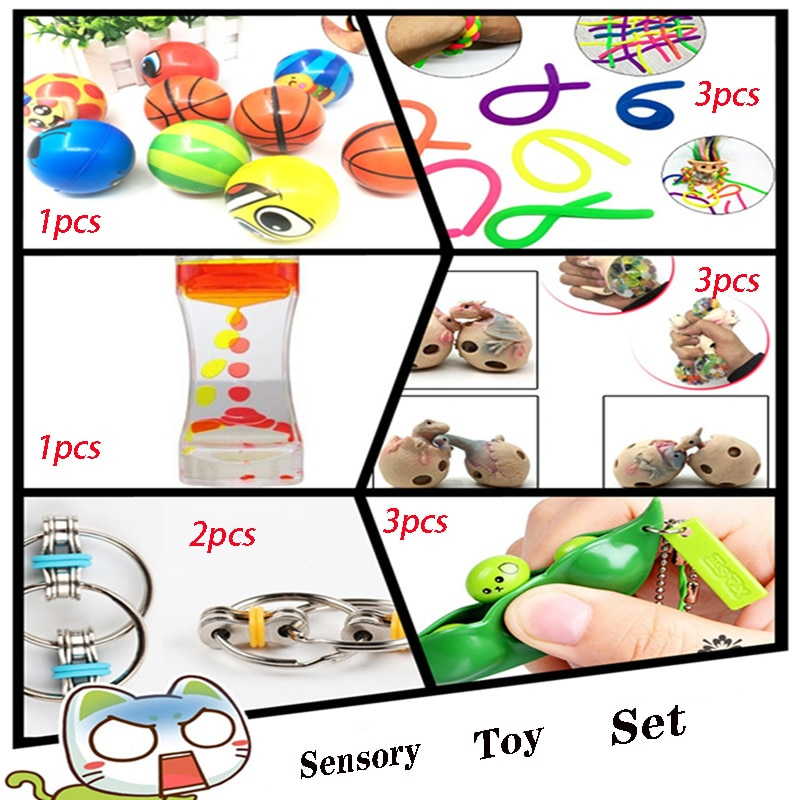 Squeeze Toys Total 13 Pieces Extrusive-Solving Fidget Kids Hot Selling Various Styles Set Wholesale
