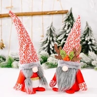 new christmas decoration snowflake hat antlers red and white rudolph doll christmas home window counter holiday decoration