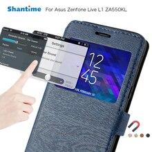 For Asus Zenfone Live L1 ZA550KL Flip Phone Case For Asus Zenfone Live ZB501KL View Window Book Case Tpu Silicone Back Cover