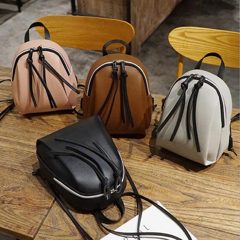 Маленький кожаный рюкзак для женщин, сумка на плечо, многофункциональные мини-рюкзаки для девушек-подростков, школьный ранец, лето 2021