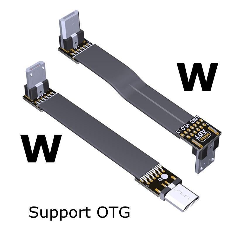 USB OTG 2,0 micro-b a micro-b extensión macho a macho Cable plano...