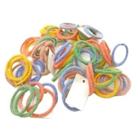 20pcsset velvet rope scrunchie rubber hair band kid girls cute colorful candy color tie baby gum
