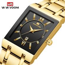 Relogio Masculino Sport Gold Watch Men Square Mens Watches Top Brand Luxury Golden Quartz Stainless