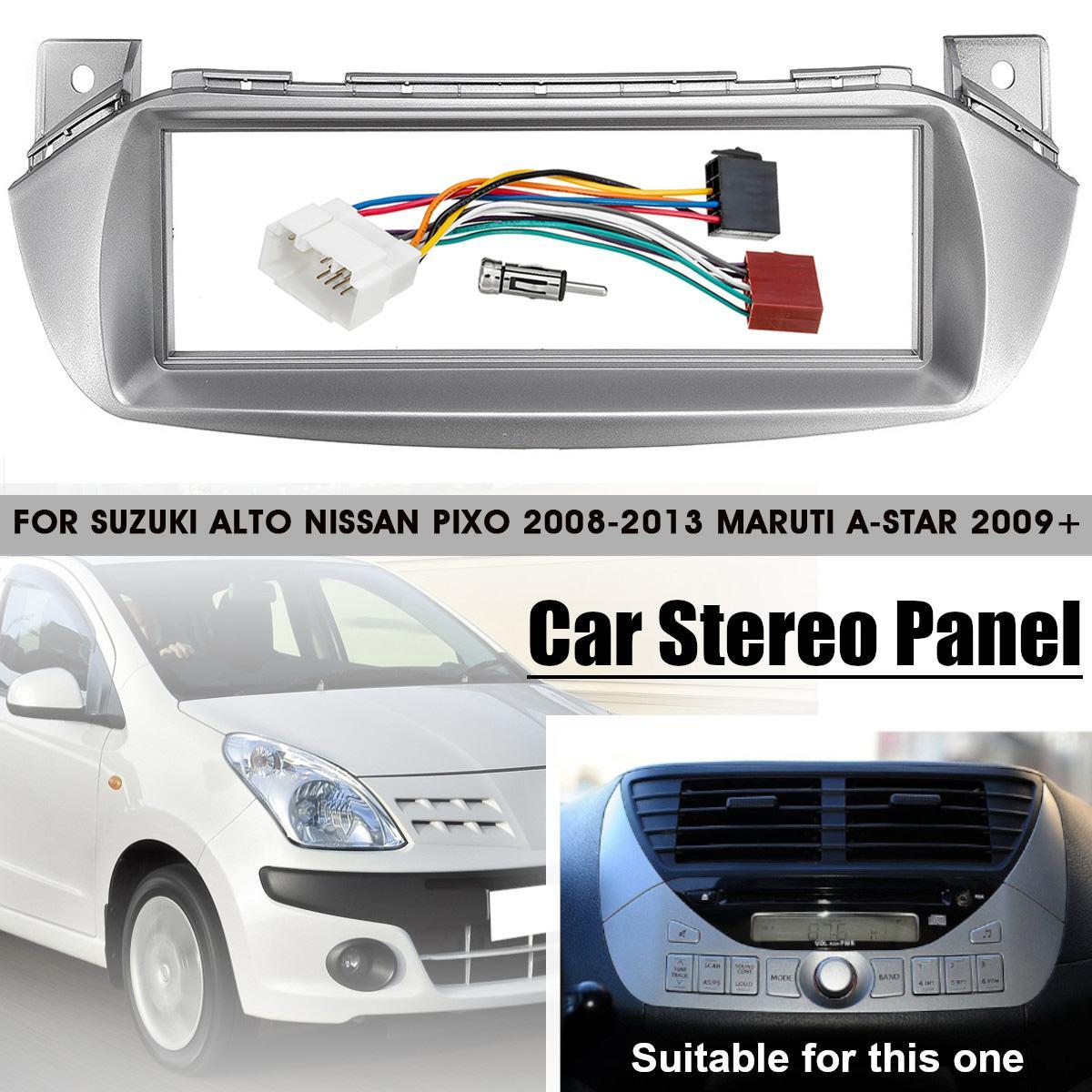 Car Radio Fascia Panel Frame CD DVD Dash Audio Cover Trim with ISO-DIN Adapter For SUZUKI Alto for NISSAN Pixo For Marati A-Star