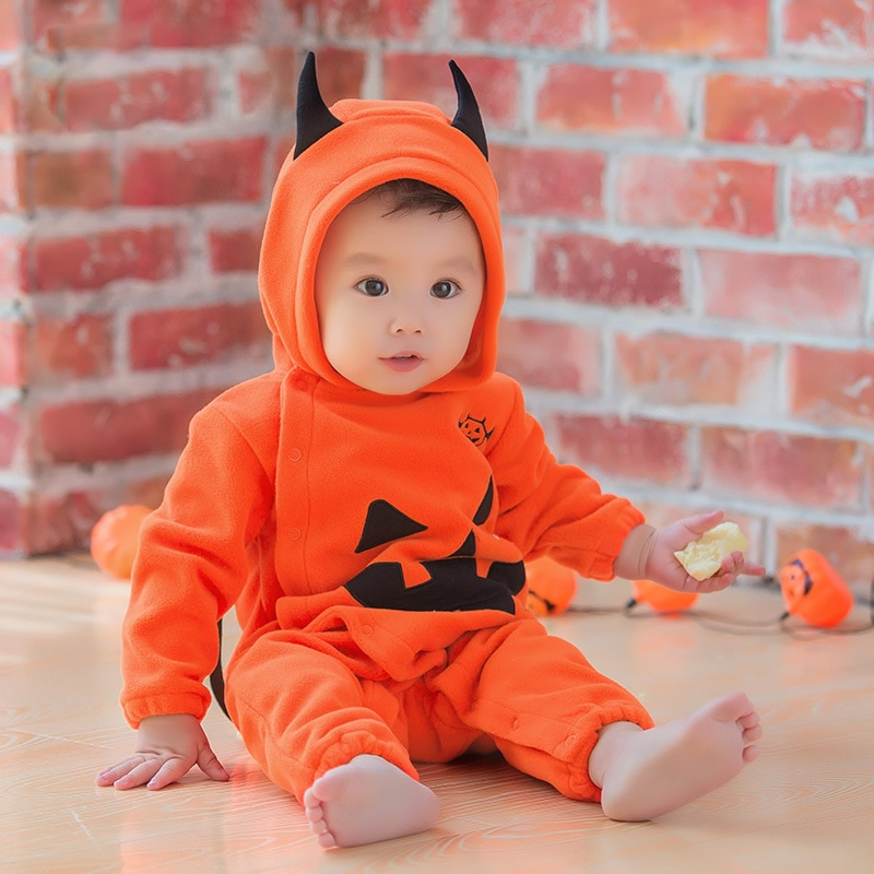 Осенне-зимние комбинезоны для маленьких мальчиков и девочек, карнавальные костюмы на Хэллоуин, костюм для мальчиков и девочек, комбинезоны ...
