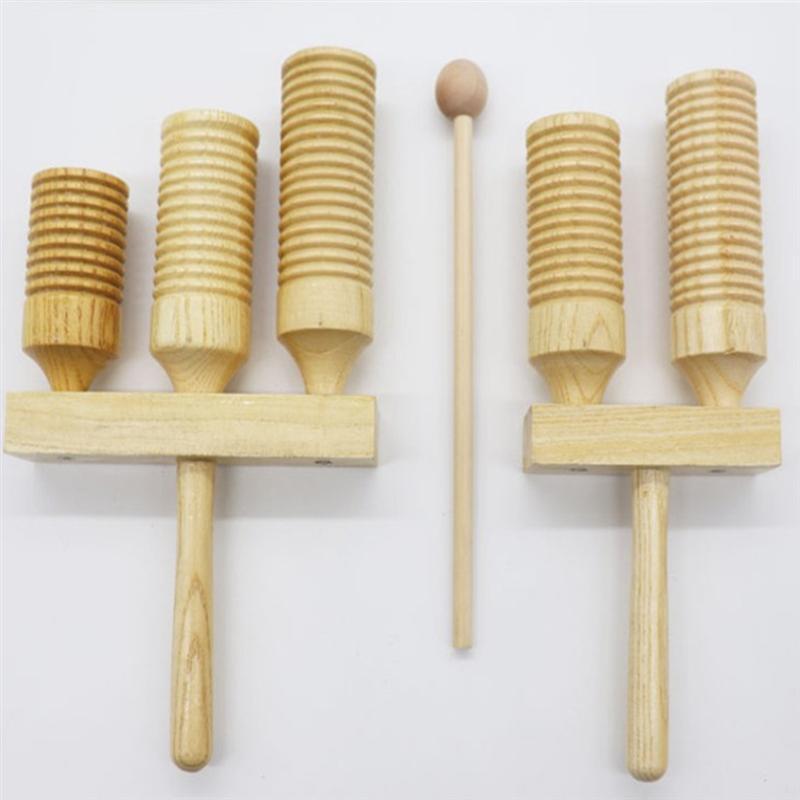 Instrumento Musical de percusión Orff de madera, Clapper para niños, baquetas de ritmo, juguetes educativos