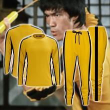 Adultes hommes Bruce Lee barboteuses jaune Wushu uniformes Kung Fu ensemble Wu Shu chinois Costume pour hommes Arts martiaux ensembles sweat