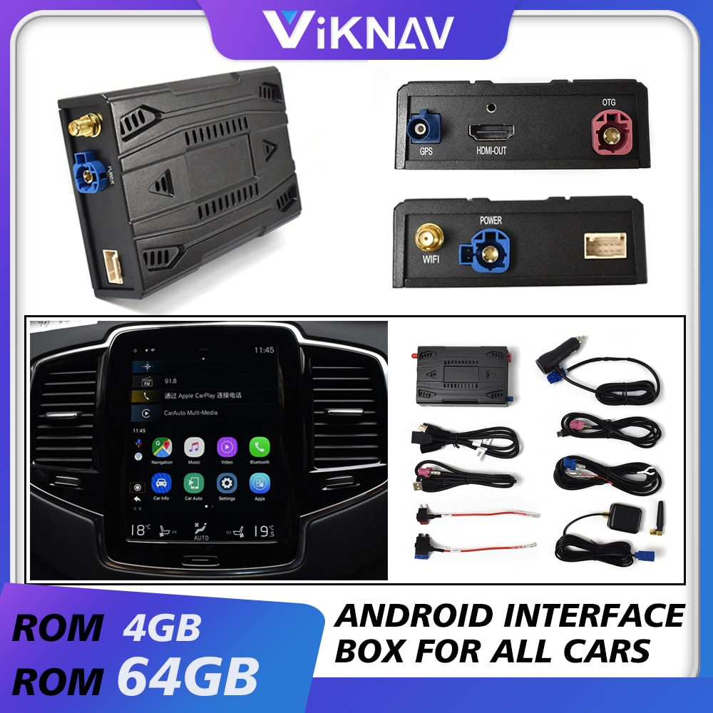 car radio universal android video interface box car screen upgrade system box decoding tool for all