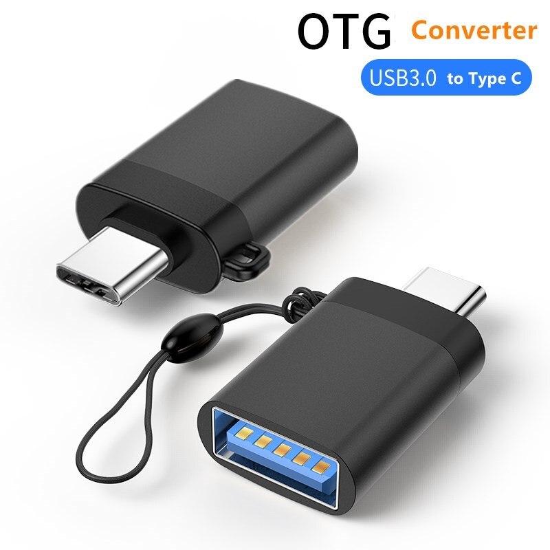 محول USB صغير إلى النوع C HUB ، محول USB C OTG من النوع C لجهاز Macbook Pro والكمبيوتر المحمول