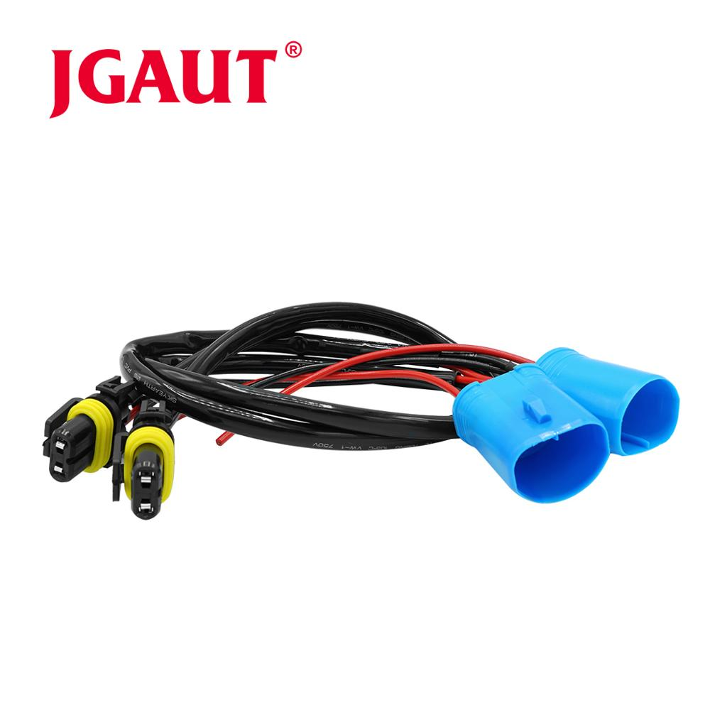 2 pçs fio chicote de fios 9007 conversão adaptador soquete hid h7 farol nevoeiro lâmpada conector fio lastro cabo de alimentação
