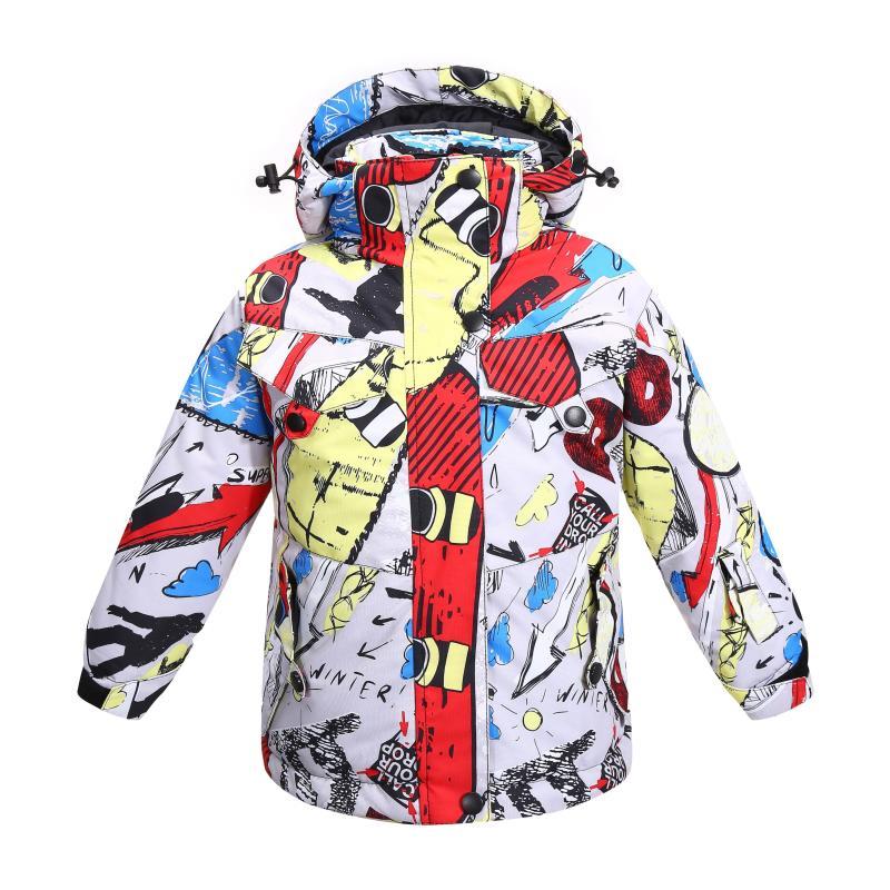 الأطفال الشتاء مقاوم للماء الثلوج الستر 8 10 سنوات العلامة التجارية المحشوة بالقطن المهنية العلامة التجارية في الهواء الطلق الاطفال معطف