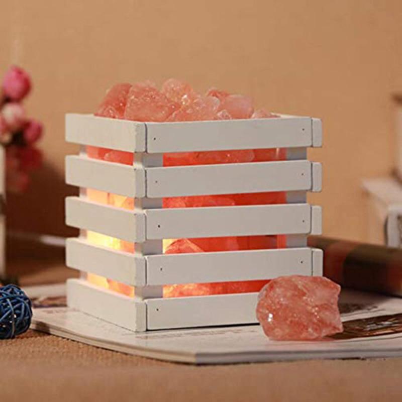 Lâmpada de sal Do Himalaia Natural Sal Rosa Night Light Lâmpada de Cristal de Sal Do Mar Artificial UK Plug
