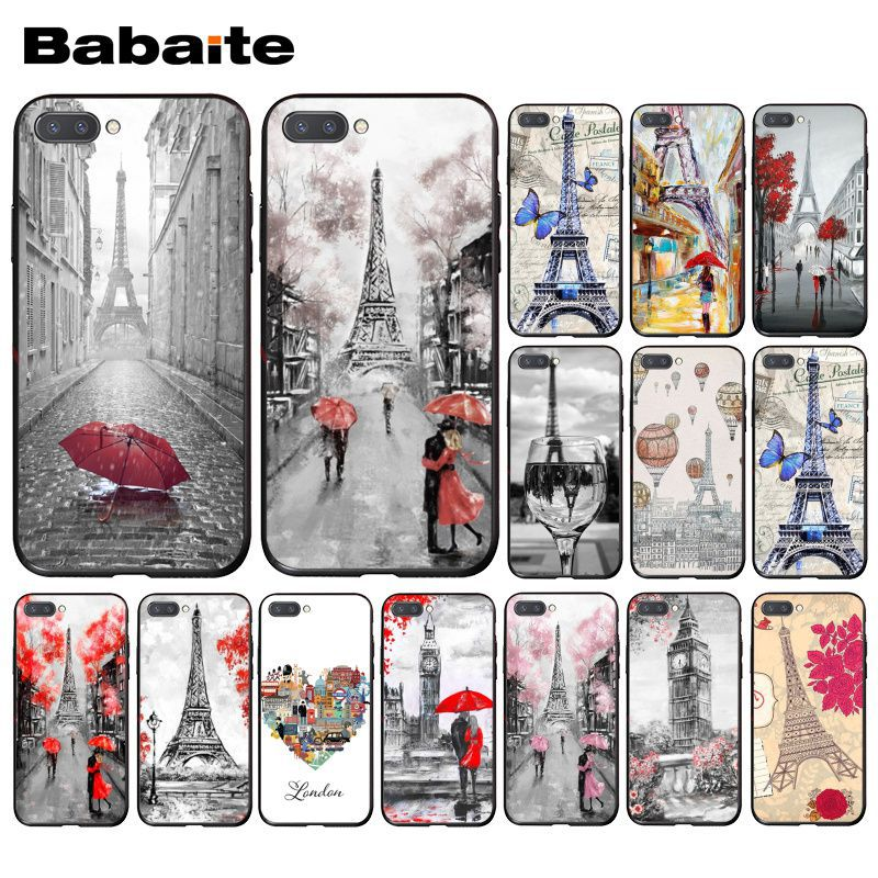 Babaite Париж Лондон Эйфелева башня Нью-Йорк осенний кленовый чехол для телефона Huawei Honor 8X 9 10 20 Lite 7A 8A 5A 7C 10i 8C 9X Pro
