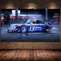 manipulated sport car race cars vehicle fabric canvas painting poster print wall art cuadros for living room home decor unframed