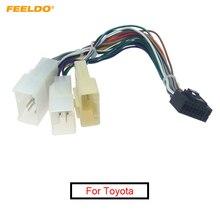 FEELDO 1 ADET 16P Araba Kafa Ünitesi Kablo Demeti Adaptörü Toyota OEM Araba Radyo Kablo Demeti 3 termİnalİ # FD2771
