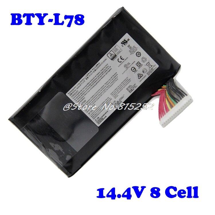 Bateria do portátil para msi gt80 BTY-L78 gt73vr gt83vr 6rf-026cn 2qe-035cn vr 6re-013cn s5 67sh1 s 14.4 v 8 pilha novo e original