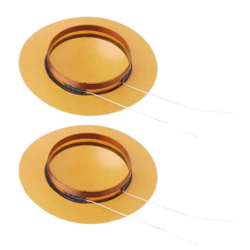 2pcs 25.5mm Tweeter Voice Coil Horn Treble Speaker Resin Sound Film Diaphragm