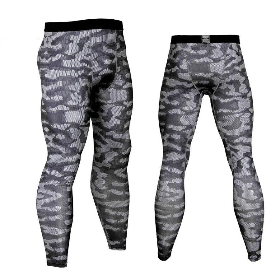 Hombre Running Tights Leggings deportivos Jogging pantalones hombres gimnasio Fitness Sport Wear Camo pantalones de compresión MMA de secado rápido