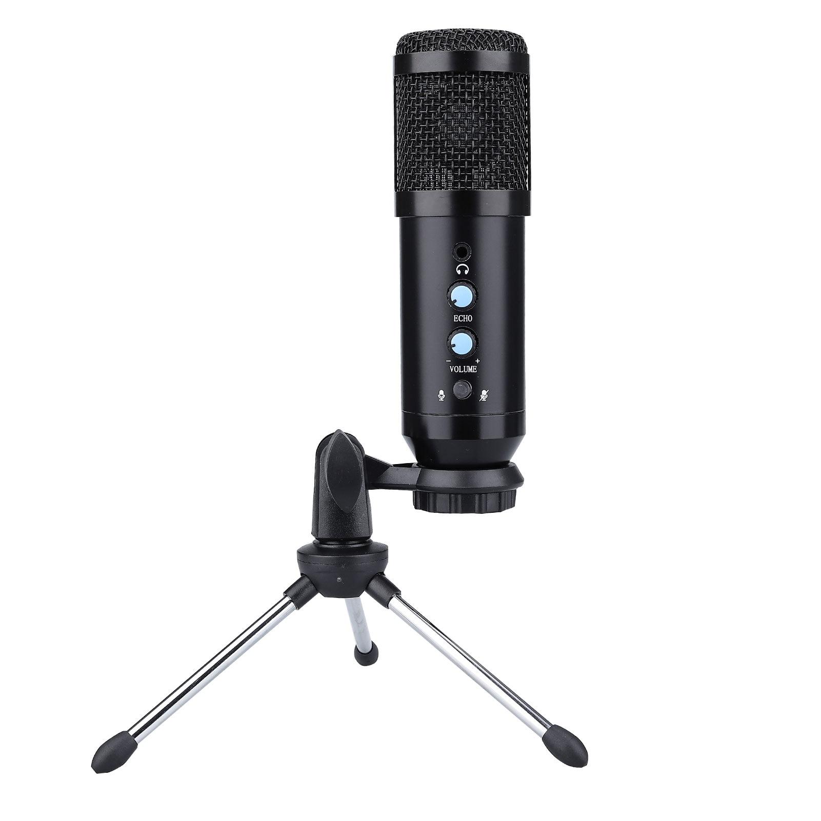 Metal USB Condenser Recording Microphone For Laptop Windows Cardioid Studio Recording Vocals Voice enlarge